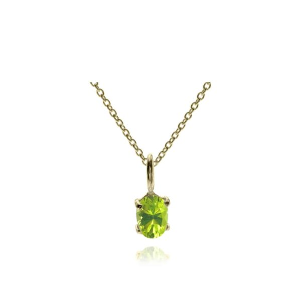 Peridot Vermeil Necklace 18ct Gold