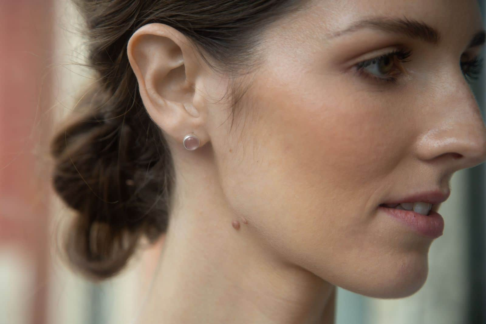 Gold Vermeil Rose Quartz Stud Earrings 18ct Vermeil Karst Jewellery